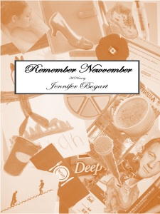 Remember Newvember by Jennifer Bogart orange book cover